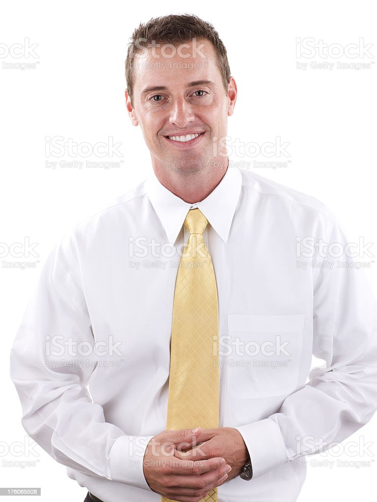 Portrait of businessman smiling at camera royalty-free stock photo
