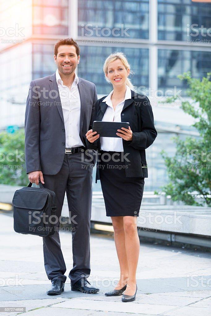 Retrato de los empresarios foto de stock libre de derechos
