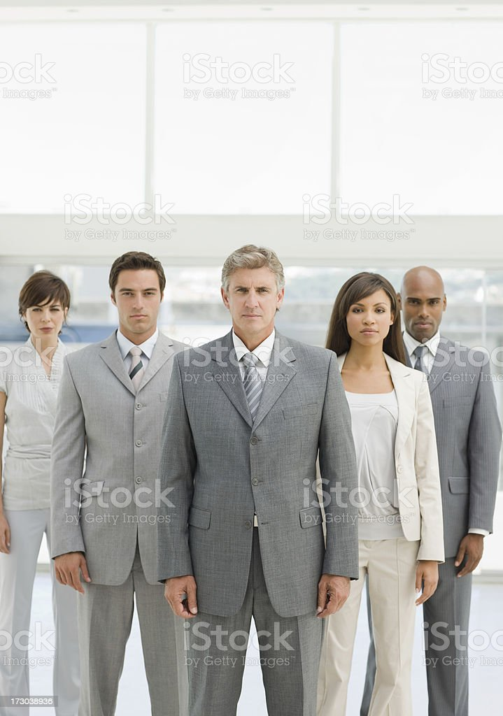 Portrait of businesspeople standing royalty-free stock photo