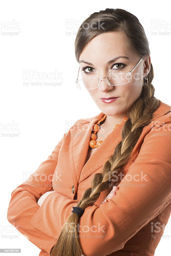 Portrait of  businesswoman  isolated royalty-free stock photo