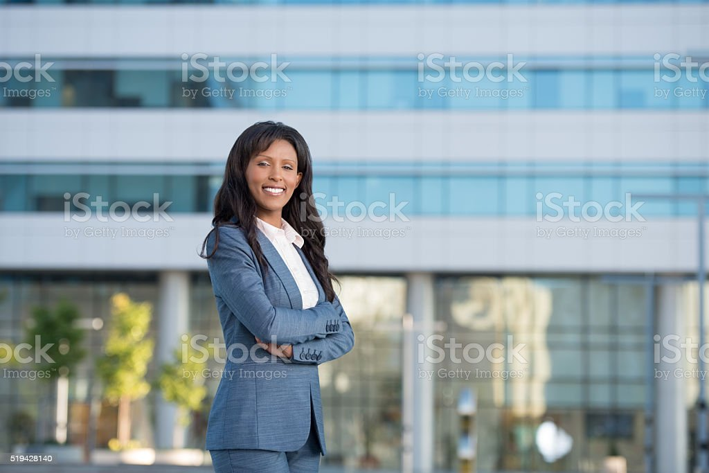 Portrait of businesswoman. stock photo