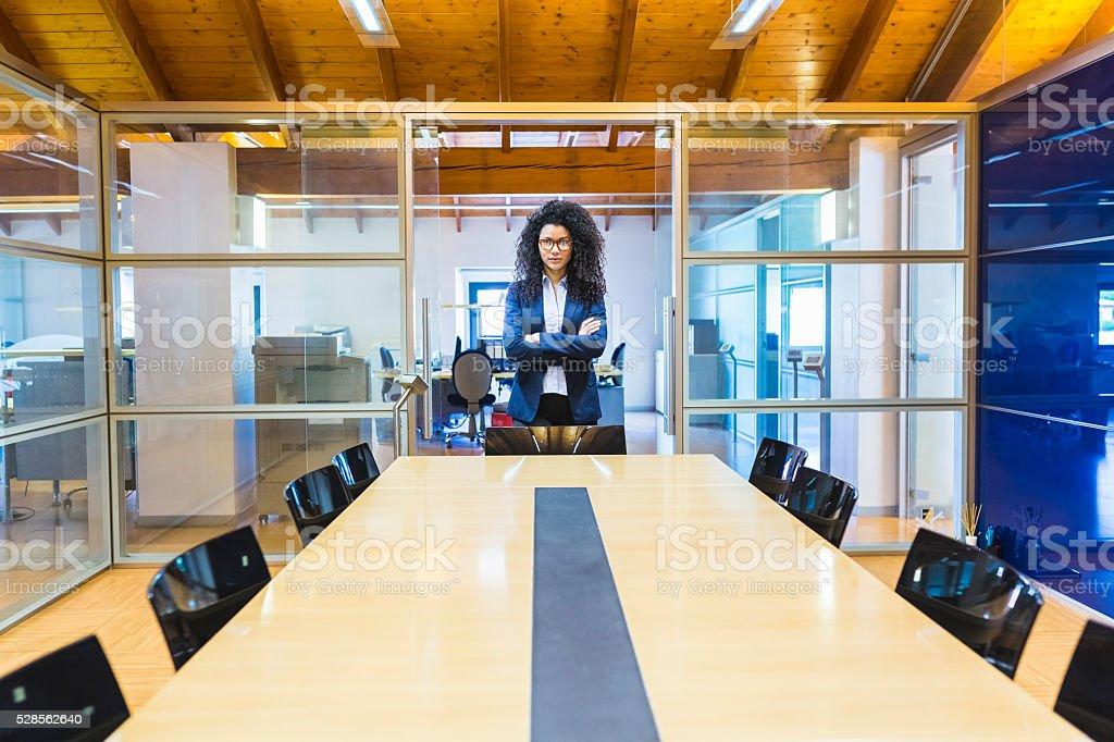 Portrait of businesswoman stock photo