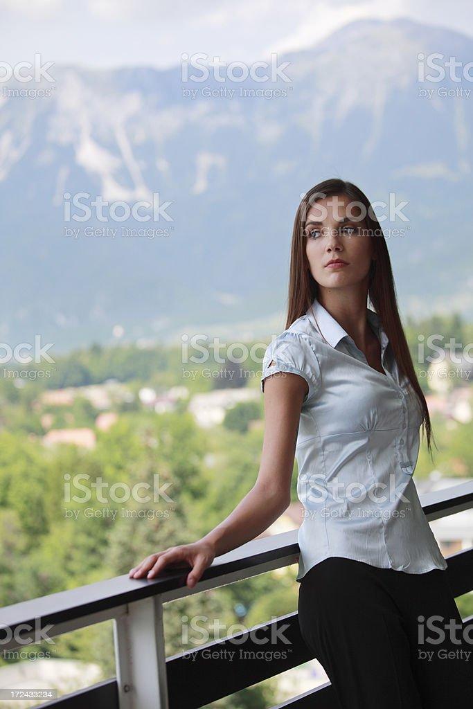 Portrait of businesswomna on break royalty-free stock photo