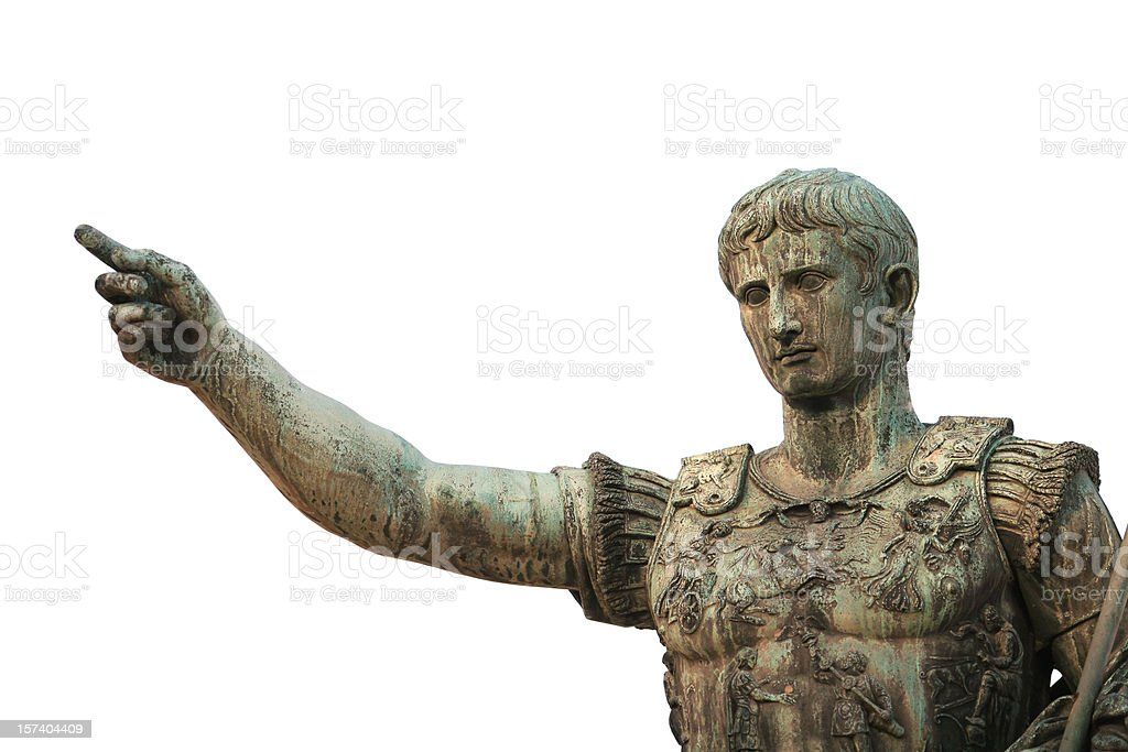 Portrait of Caesar Augustus, Rome Italy stock photo