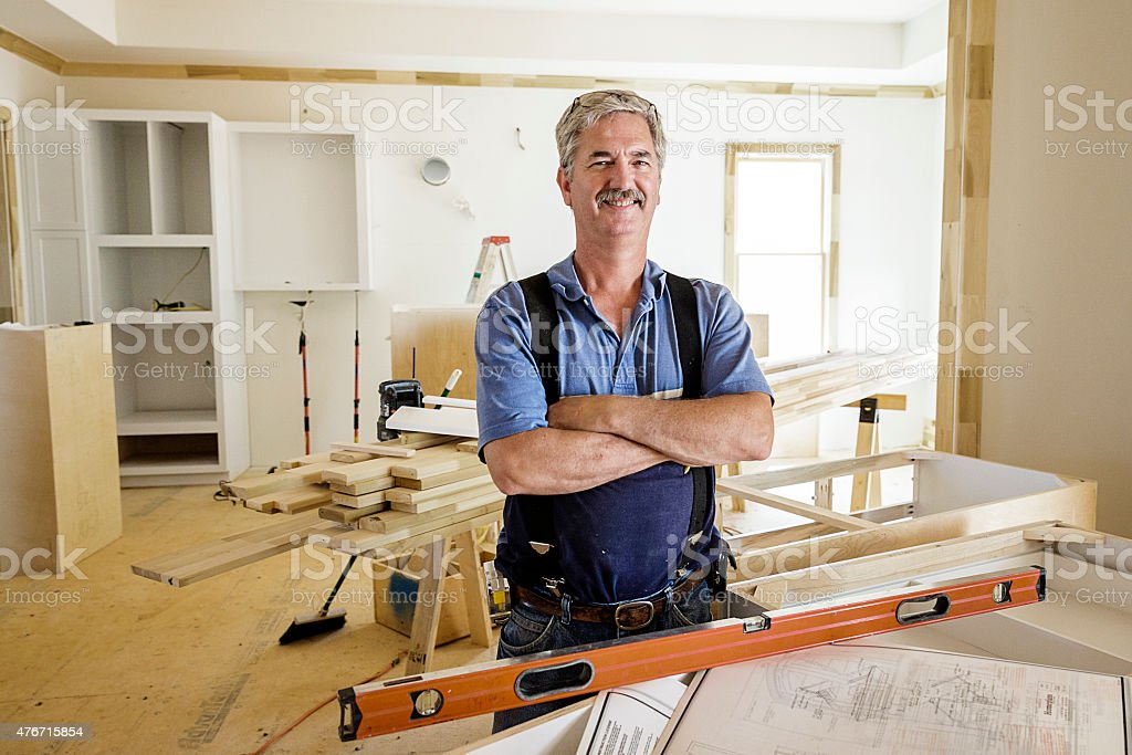 Portrait of Carpenter stock photo