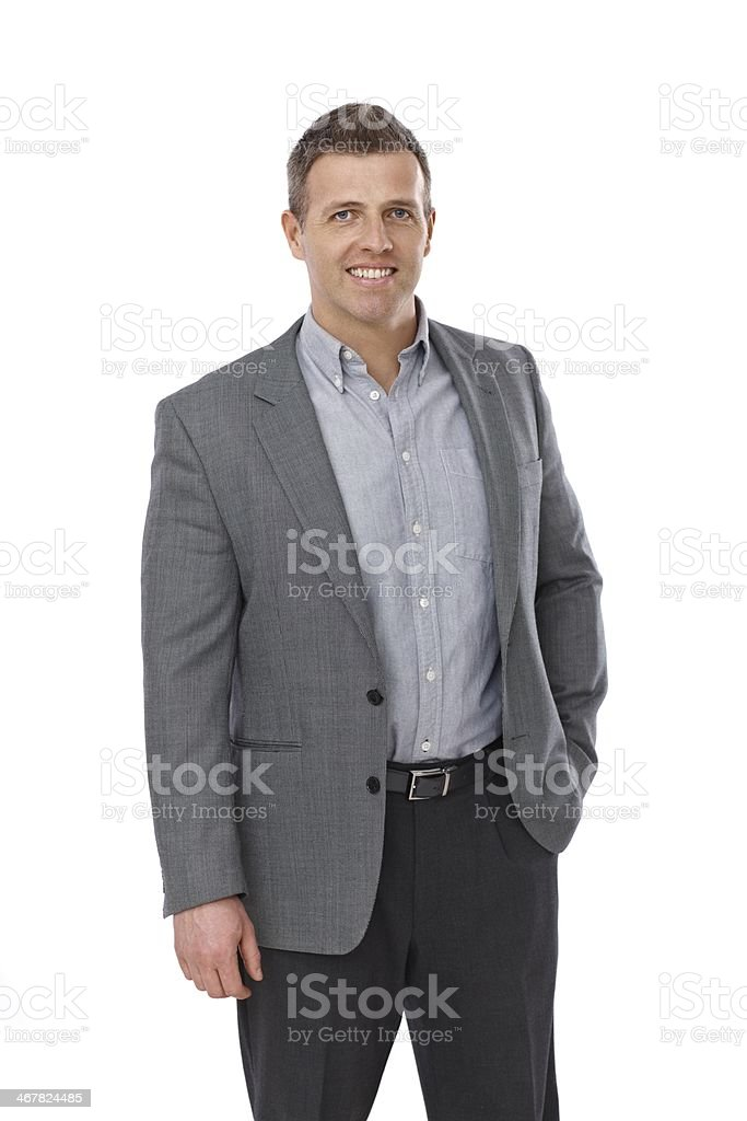 Portrait of casual businessman royalty-free stock photo