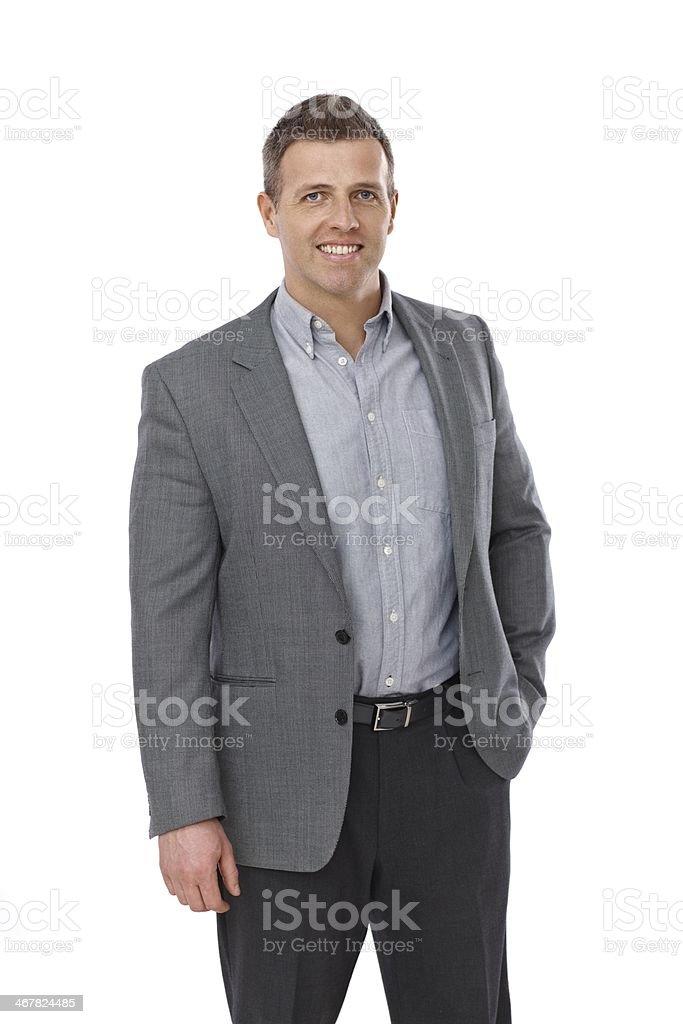 Portrait of casual businessman stock photo
