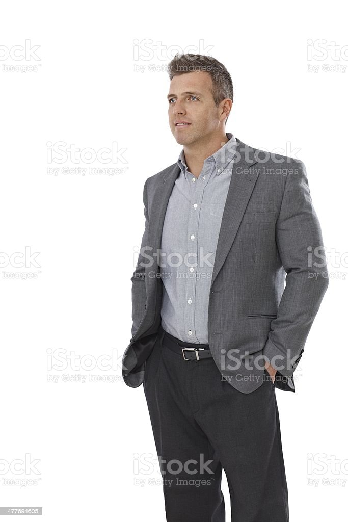 Portrait of casual businessman stock photo