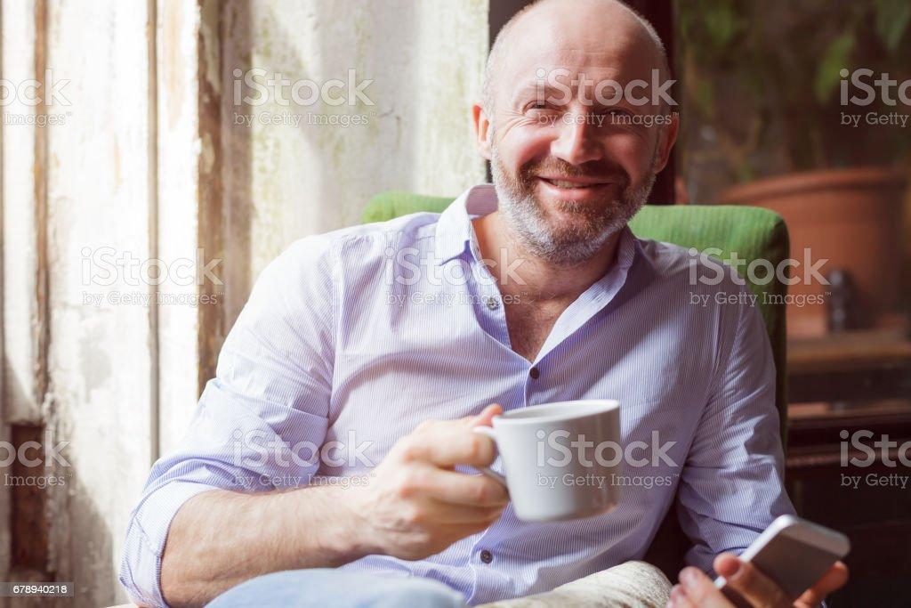 Portrait of caucasian man stock photo