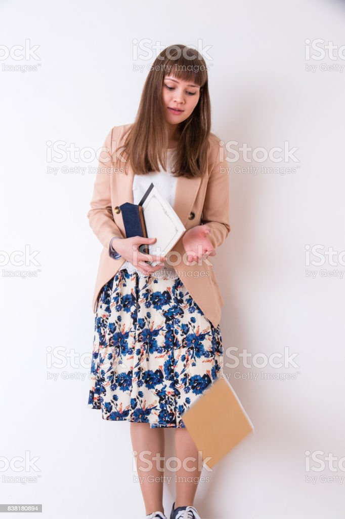 Portrait of Caucasian women stock photo