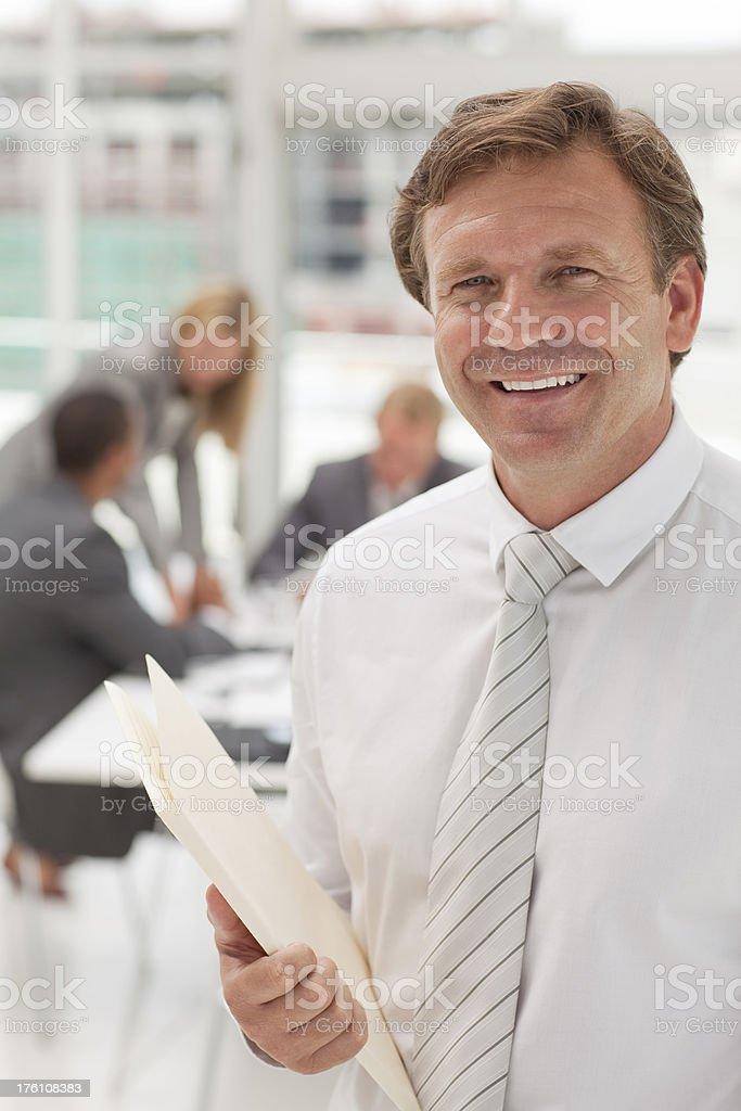 Portrait of CEO stock photo