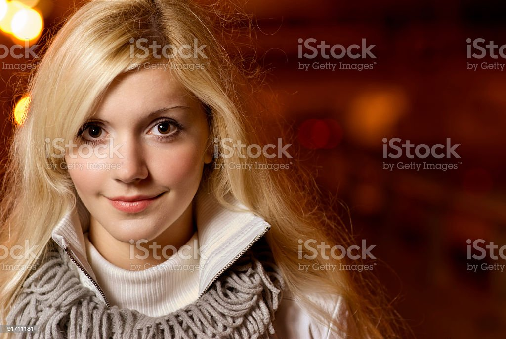 Portrait of charming blonde royalty-free stock photo