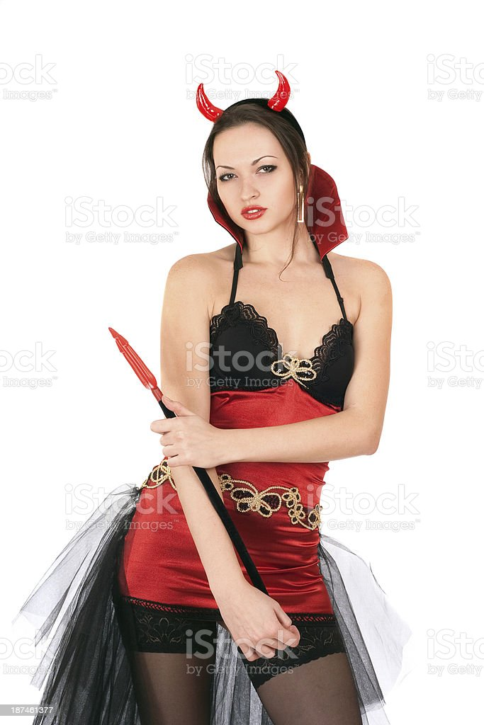 Portrait of charming young woman royalty-free stock photo