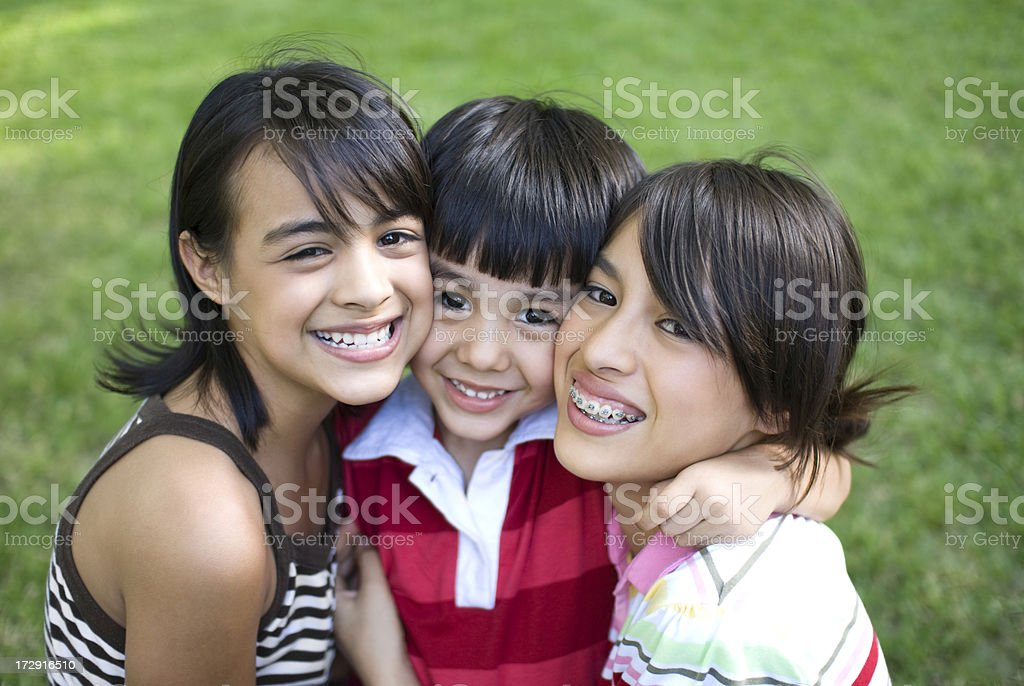 Portrait of cheerful brothers royalty-free stock photo