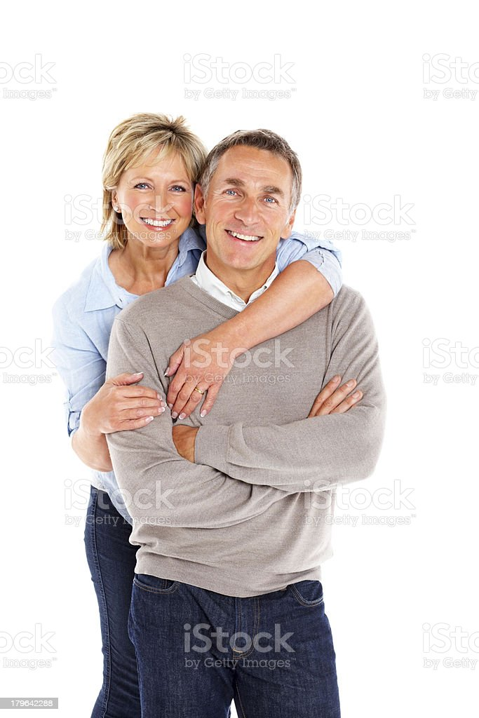 Portrait of cheerful mature couple together royalty-free stock photo