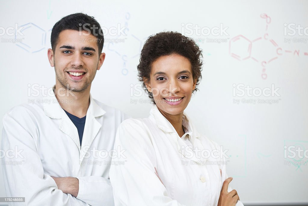 Portrait of chemists royalty-free stock photo