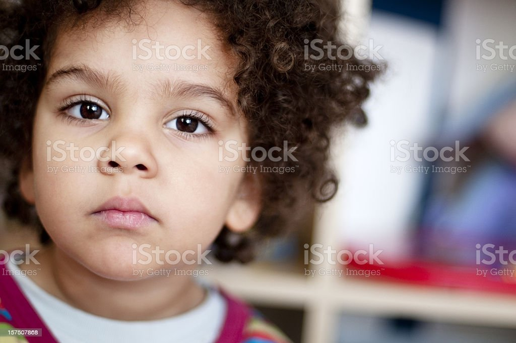 Portrait of child at home royalty-free stock photo