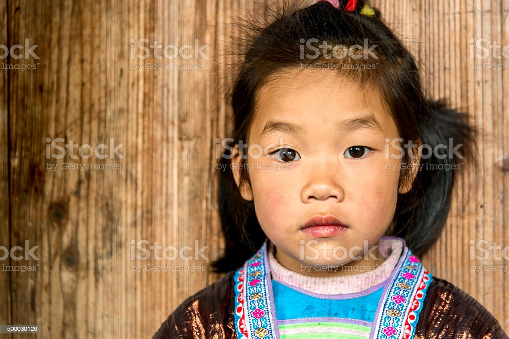 portrait of Chinese girl stock photo
