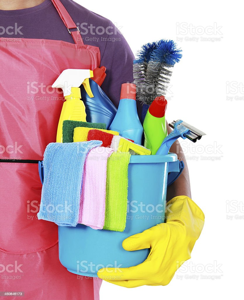 Portrait of cleaning equipment royalty-free stock photo