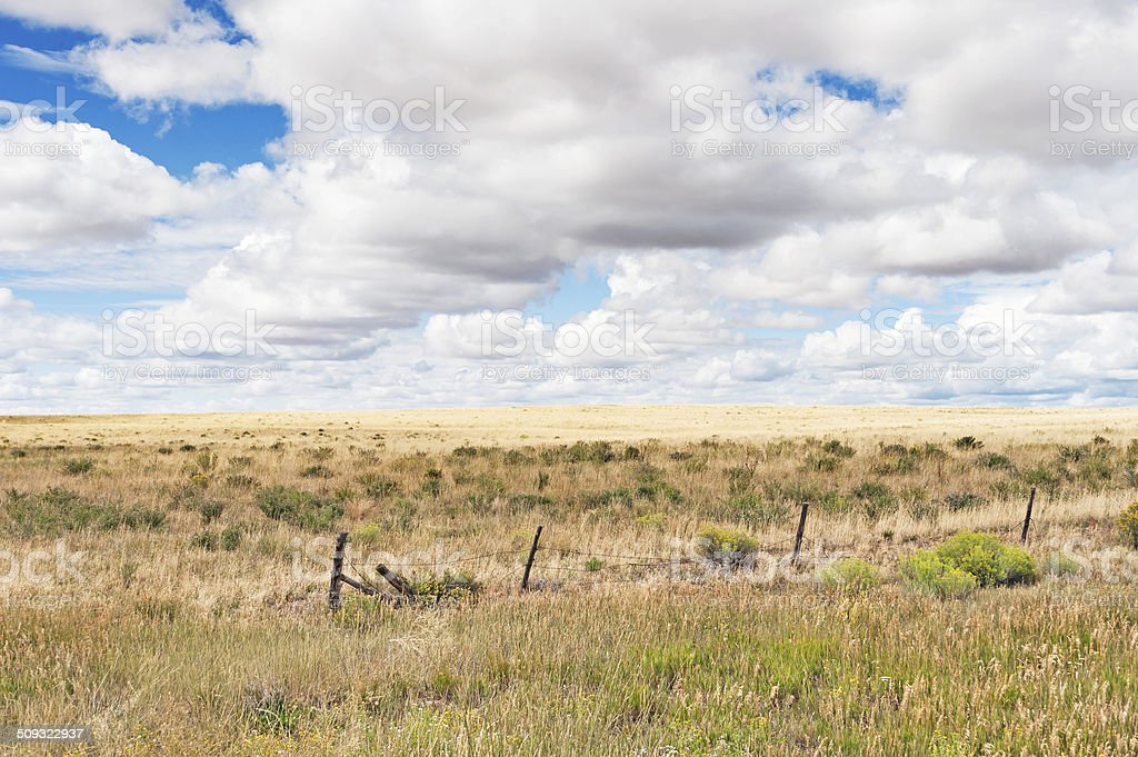 portrait of clear skies in countryside, Monticello, Utah stock photo