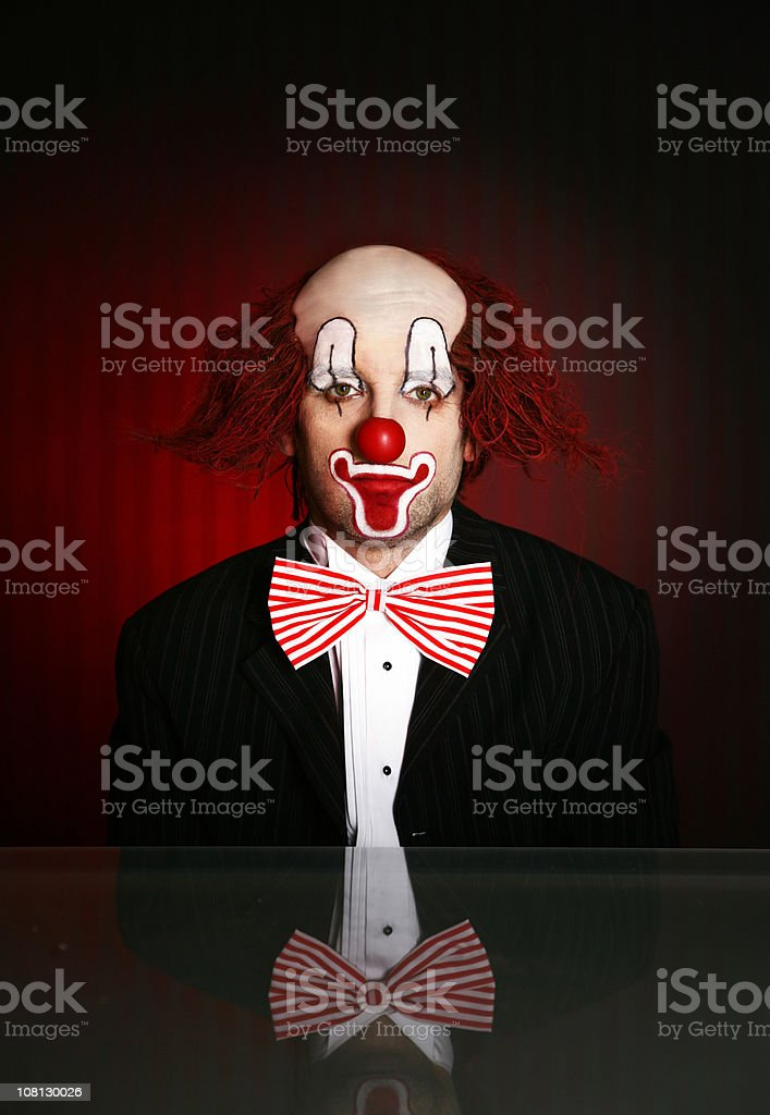 Portrait of Clown stock photo