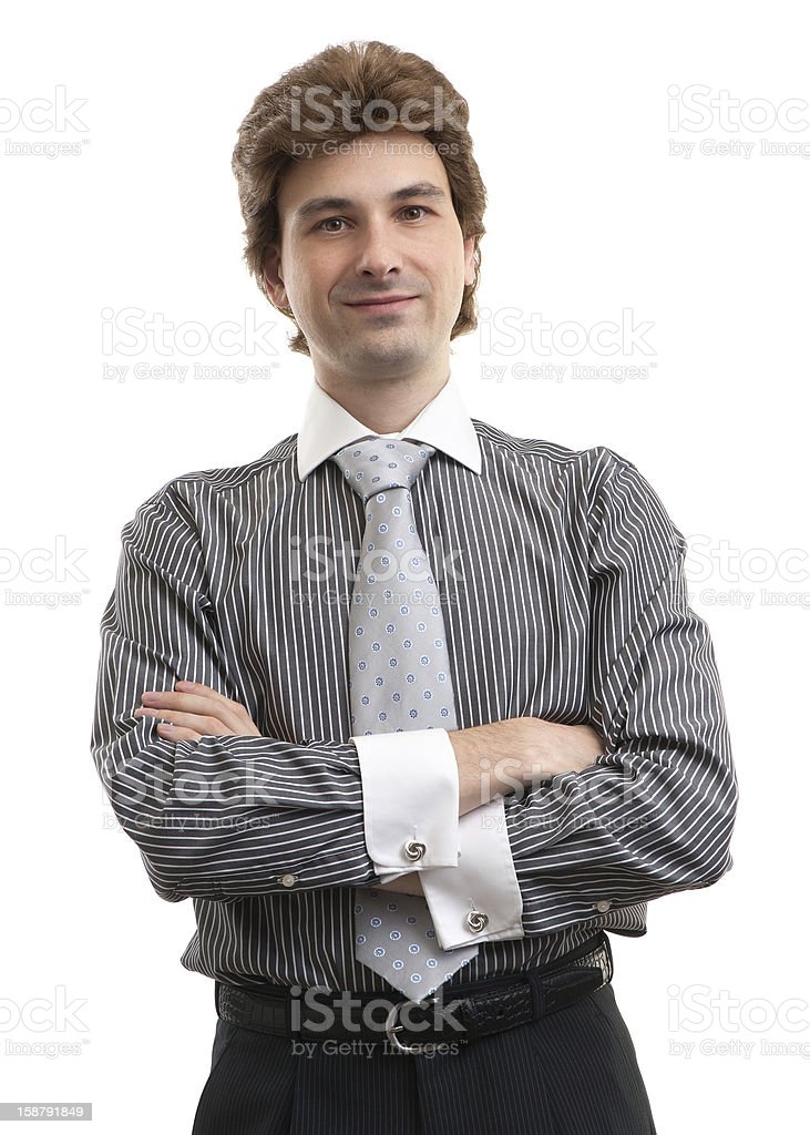 Portrait of confident business man standing royalty-free stock photo
