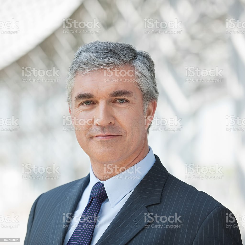 Portrait Of Confident Businessman. stock photo