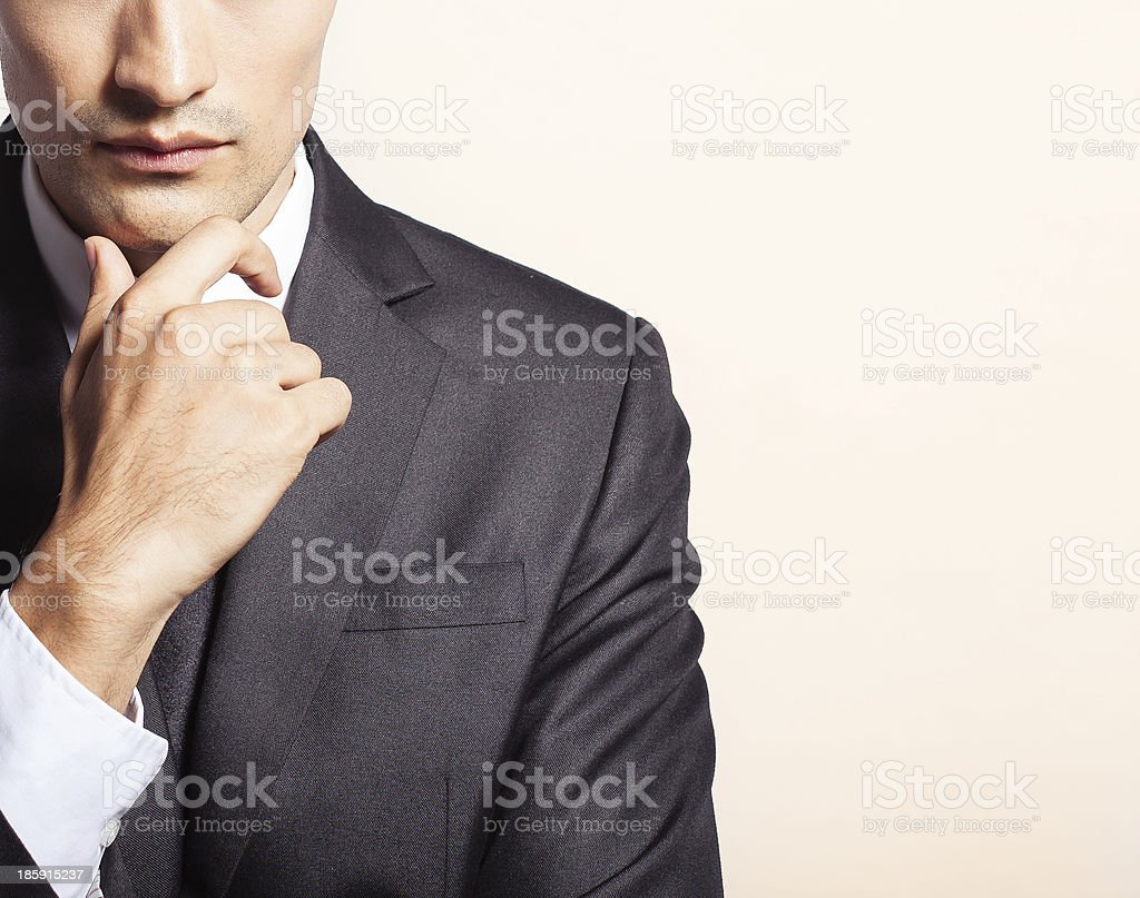 Portrait of confident businessman royalty-free stock photo