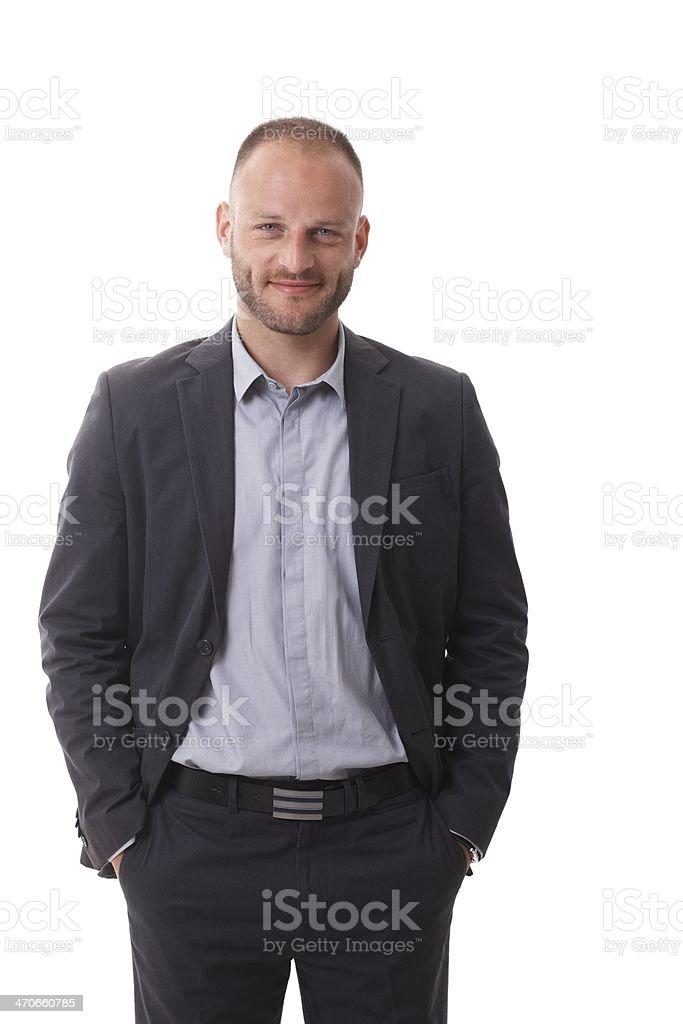 Portrait of confident businessman stock photo
