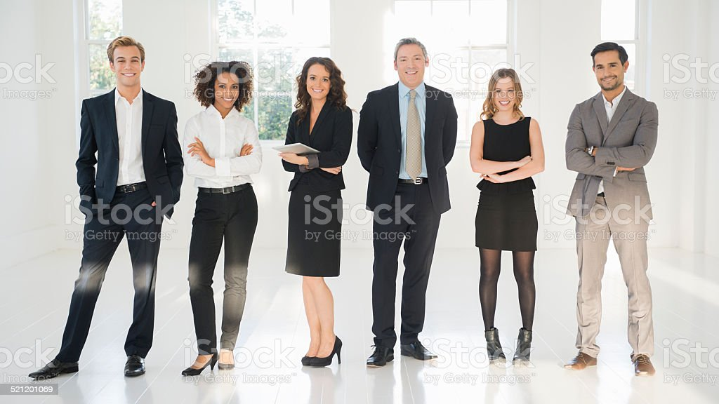 Portrait Of Confident Businesspeople stock photo