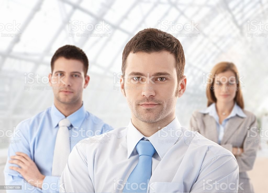 Portrait of confident businessteam royalty-free stock photo
