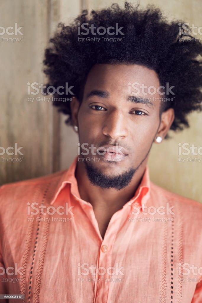 portrait of confident man stock photo