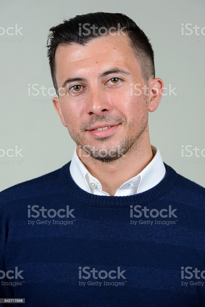 Portrait of confident man smiling stock photo