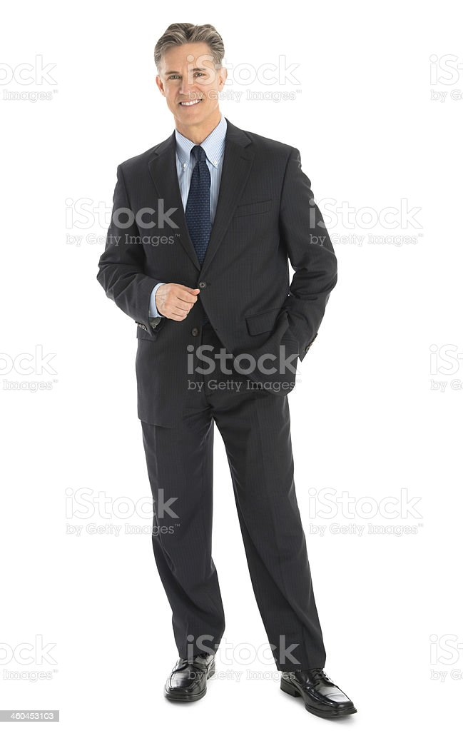 Portrait Of Confident Mature Businessman In Formals stock photo
