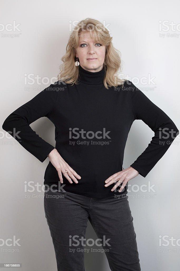Portrait of Confident Mature Woman royalty-free stock photo