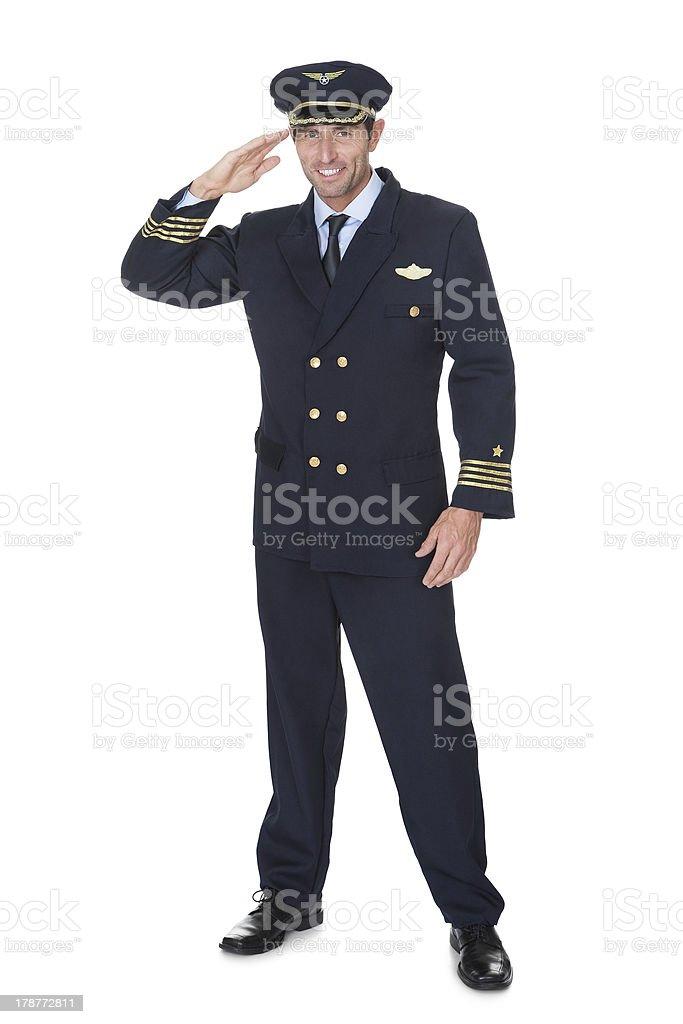 Portrait of confident pilot royalty-free stock photo