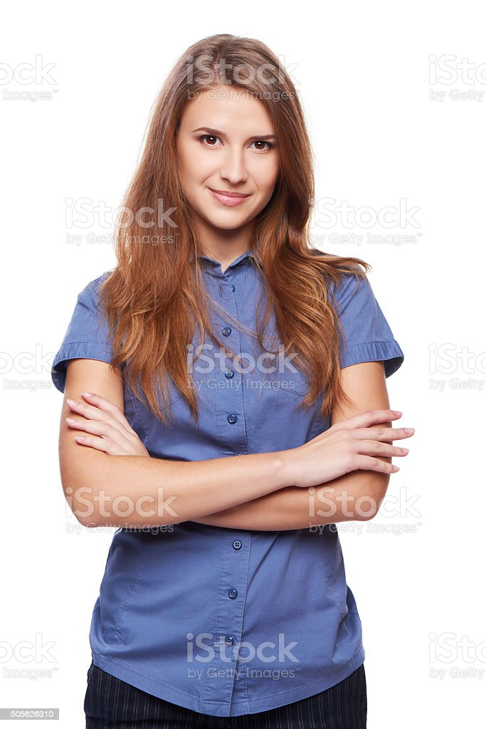 Portrait of confident successful business stock photo