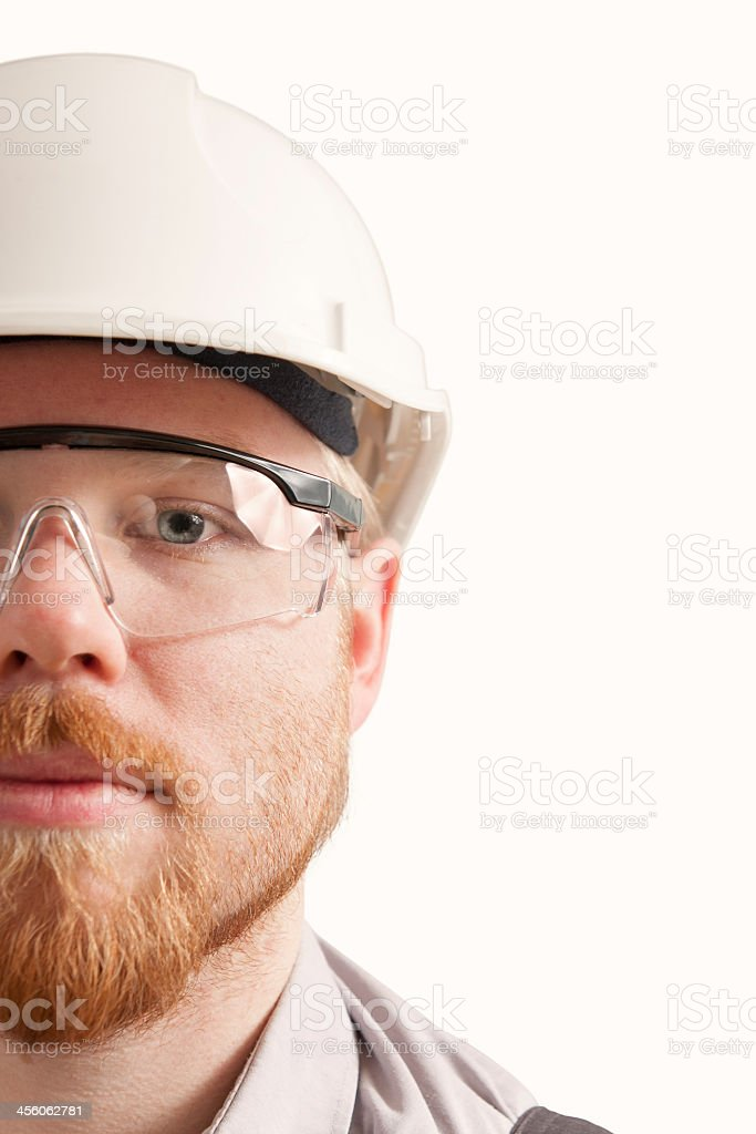 A portrait of construction worker stock photo