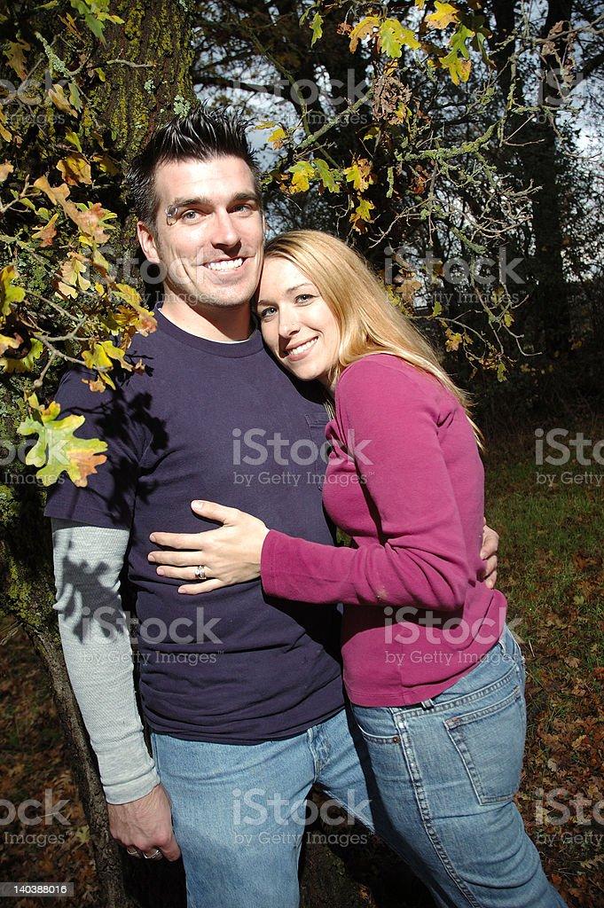Portrait of Couple stock photo