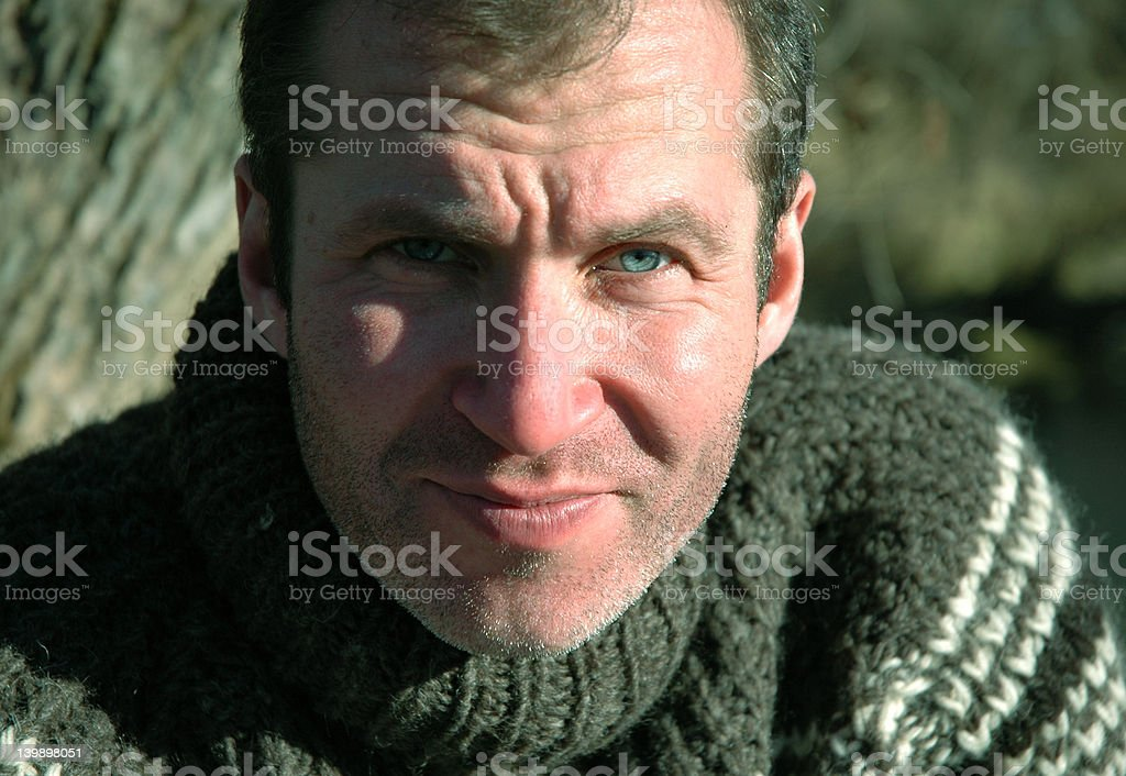 Portrait of courageous man royalty-free stock photo