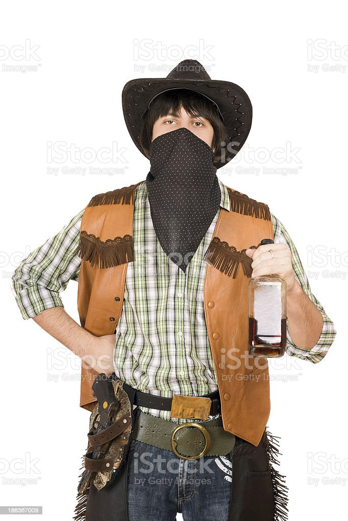 Portrait of cowboy royalty-free stock photo