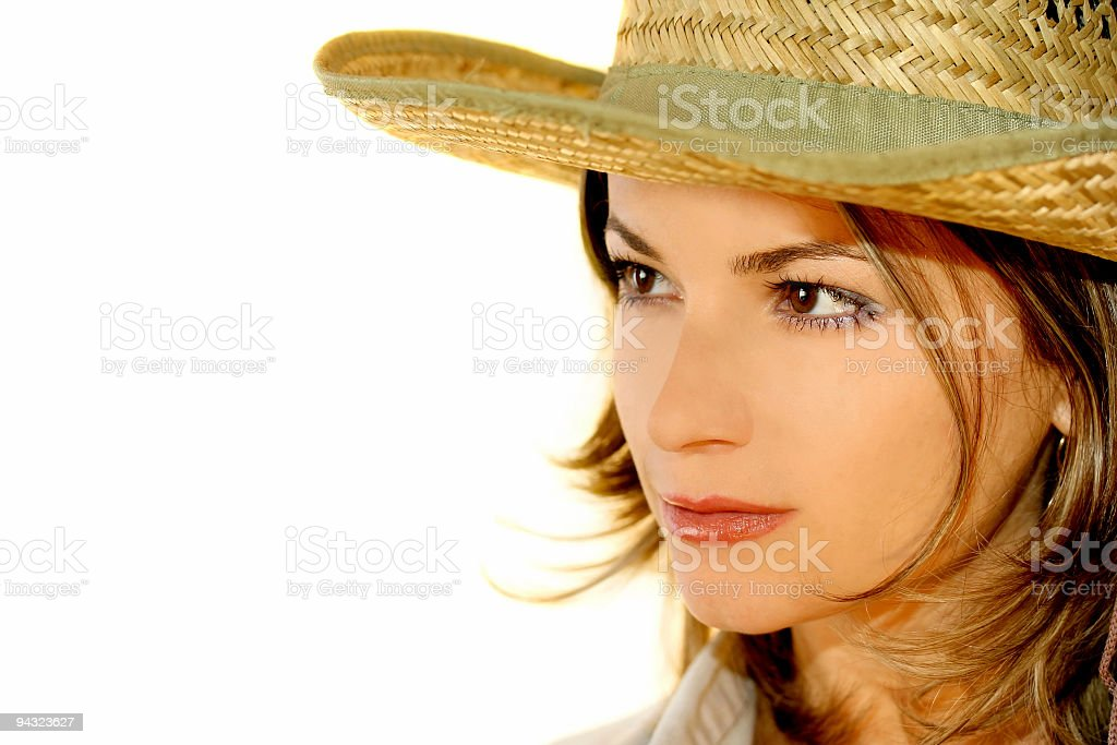 portrait of cowgirl royalty-free stock photo