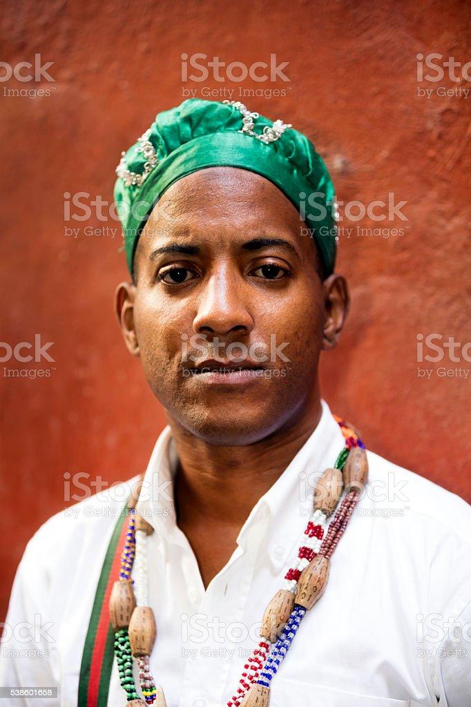 Portrait of Cuban Man stock photo