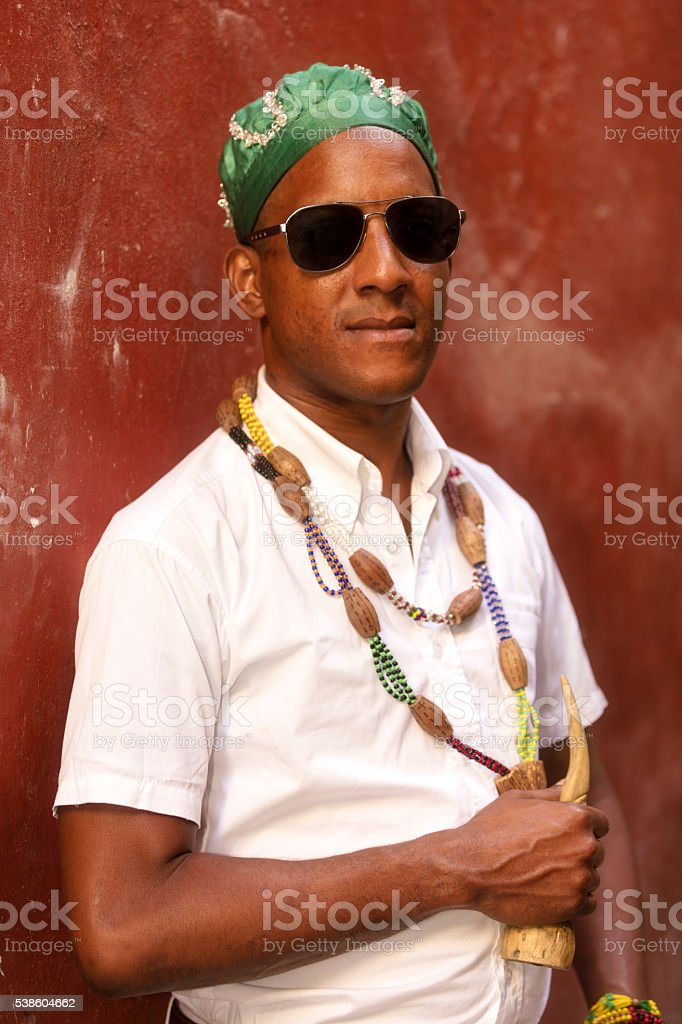 Portrait of Cuban Man stock photo