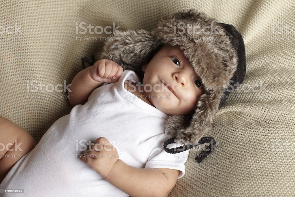 portrait of cute a baby boy royalty-free stock photo