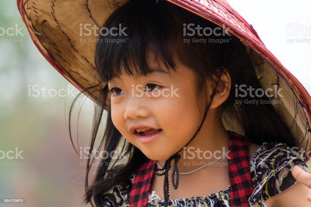 Portrait Of Cute Asian Girl stock photo