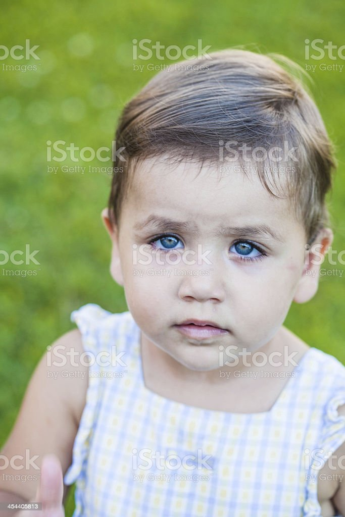 Portrait of Cute Baby Girl royalty-free stock photo