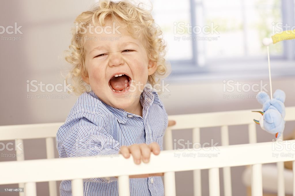 Portrait of cute blonde toddler royalty-free stock photo