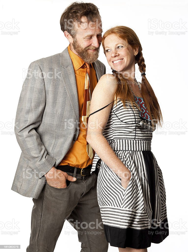 portrait of cute couple royalty-free stock photo