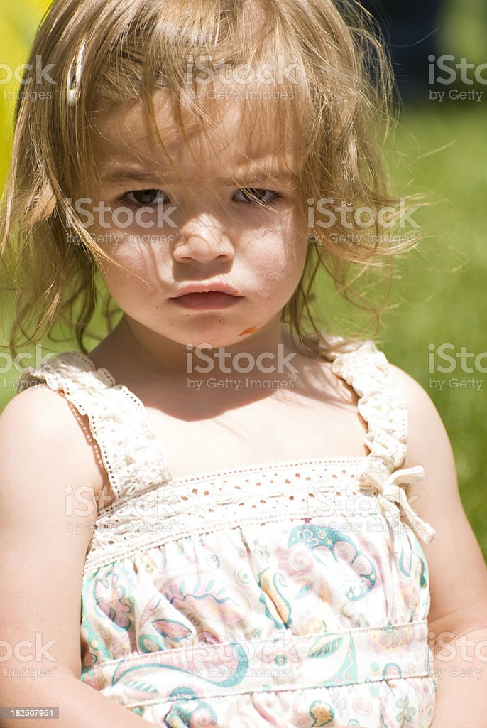 Portrait of Cute Little Girl royalty-free stock photo